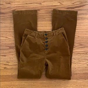 """Freepeople Brown flared wide leg cords 30"""" Inseam"""